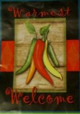 """Nwt WinCraft Chile Pepper Welcome garden flag / banner 12.5 x 18"""""""
