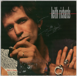Keith Richards signed autographed record album! RARE! Guaranteed Authentic!