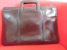 Vintage Portfolio  Briefcase Top Grain Leather Dark Brown Bergundy
