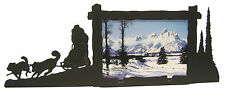 """Dog Sled Picture Frame 3.5""""x5"""" - 3""""x5"""" H"""