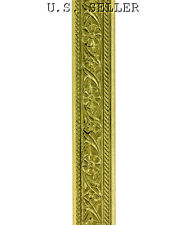 Mini Floral Patterned Brass Wire 3 Foot Package 5mm Wide