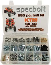 250 piece KTM ATV Bolt Kit SX450 SX505 450XC 525XC SPECBOLT frame engine plastic