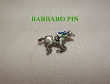 NEW BARBARO Maiden Win JOCKEY SILKS HAND PAINTED HORSE RACING #10 PIN