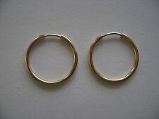 Gold Filled 16mm Endless Hoop Earrings New