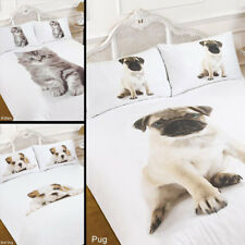 Dreamscene 3D Animal Print Duvet Cover with Pillow Case Kitten Pug Bedding Set