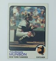 1973 73 Topps Baseball Thurman Munson #142, New York Yankees, HOF