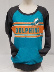 BRAND NEW Majestic Fan Fashion Women's NFL Miami Dolphins Pullover Sweatshirt