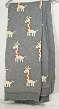"Frolics Kids Collection Throw Blanket Gray with Giraffes 32"" x 40"""