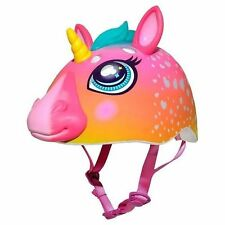 Rainbow Unicorn 3d Safety Helmet Raskullz Childrens Bicycle Scooter Ages 5