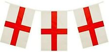 England St Georges Day Flag Bunting Party Banner 20 Flags 10m - 32 Feet Long