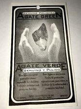 Indio - Green Agate Verde In Envelope Powerful Stone - Genuine
