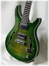 """DILLION -Semi Hollow DR-450  in a rare seaweed green """" .There's only one !!"""