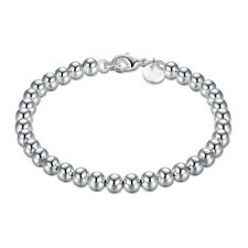Fashion Women Silver Plated Metal Bangle Cute Stand Beads Bracelet Jewelry  CG