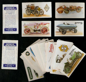 LOT TRADE CARDS=History of the Motor Car- BROOKE BOND TEA -34 diff.cards,