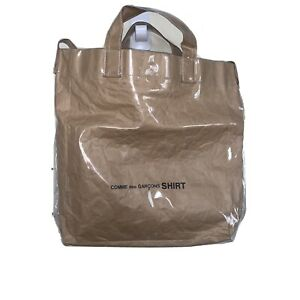 COMME des Garcons Shirt PVC Paper Tote Messenger Bag RARE AUTH