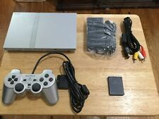 PS2 PlayStation 2 Slim SILVER Console SCPH-79001 w Controller & Memory Carr
