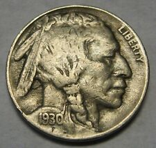 1930-S Buffalo Nickel Grading VF to XF Nice Original Coins Nice Full Horns