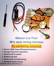 Gibson Les Paul Complete Premium wiring harness - No soldering required!