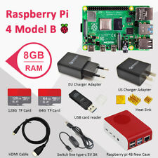 Raspberry pi 4B (8GB RAM) Basic Kit with case SD card power supply HDMI etc.