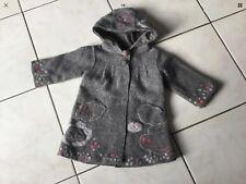 Manteau DPAM taille 12 mois gris laine bouillie