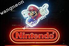 "17""X14"" Nintendo Super Mario Beer Bar Real Neon Light Sign FAST FREE SHIPPING"