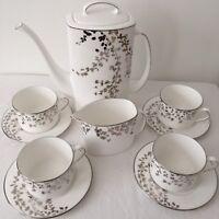 Kate Spade Lenox GARDNER STREET PLATINUM Coffeepot Sugar Bowl Creamer Cup Saucer