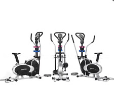 Powertrain 6-in-1 Elliptical Cross Trainer Bike with Weights and Twist Disc