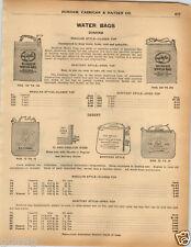 1925 PAPER AD Dunham Water Bag Bags Plummer Desert Sanitary