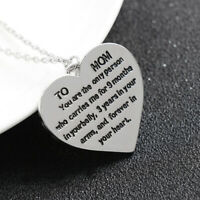 ciondolo a mia madre di caratteri gioielli cuore collana clavicola catena