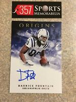 2018 PANINI ORIGINS DAURICE FOUNTAIN ROOKIE ON-CARD AUTO SP INDIANAPOLIS COLTS