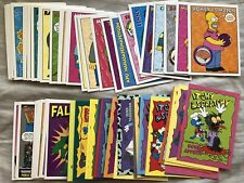 The Simpsons 1993 SkyBox Series 1 near complete trading card set missing 5 cards