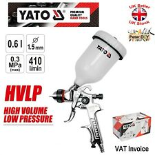 Yato Professional SPRAY GUN WITH FLUID GRAVITY FEED CUP HVLP 0.6L Nozzle 1.5mm