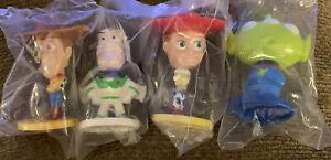 New 2003 Toy Story 2 KELLOGG'S MINI BOBBLEHEADS Woody Buzz Jessie Alien NIp Cool