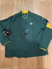 Nike Therma Mens Full Zip Football Jacket NFL Green Bay Packers Size 3XL AO4356