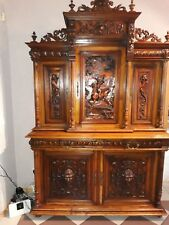 Tall Antique Chest - French Walnut Cabinet