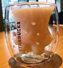 China 2019 Sakura 6oz Pink Starbucks Cat Cat's Paw Double Wall Glass Mug Cup HOT