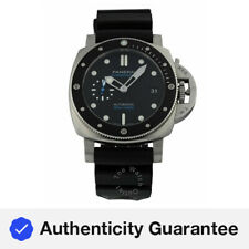 Panerai Submersible Black Dial Black Rubber Automatic 42mm Men's Watch PAM00683