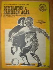 Division 1 Football Scottish Fixture Programmes (1970s)
