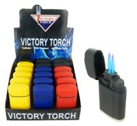 4 PACK Jet Torch Lighter Glow in the Dark Adjustable Flame Butane Refillable