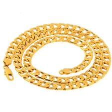 "Men's Stainless Steel 18K Gold Filled Cuban Chain Necklace  24"" MZ"