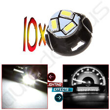 10PCS White 3SMD LED Bulbs Neo Wedge T4.7/T5 Instrument Panel Light  Lamps Dash
