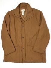Beretta Mens Jacket L Solid Medium Brown Quilted Snap Front Lightweight Field