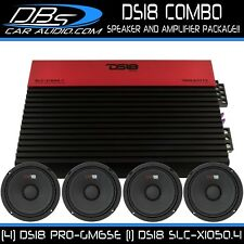 4 DS18 PRO-GM6SE Midrange Car Audio Speaker 1 SLC-X1050.4 4 Channel Amplifier