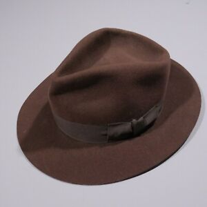 Vintage Indiana Jones Hat Fedora Stetson Brown Wool Licensed Official USA Mens