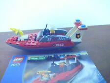 LEGO WORLD CITY 7043 Instruction manual booklet POLICE BOAT
