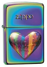 Zippo 3307 Tiled Heart Spectrum Finish Full Size Full Size Lighter