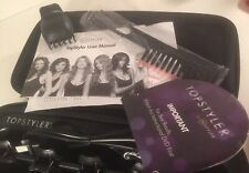 NEW TopStyler by InStyler Heated Ceramic Styling Shells Hair Curlers w Case DVD