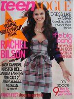 RACHEL BILSON October 2006 TEEN VOGUE Magazine DAKOTA FANNING  KRISTEN BELL +++
