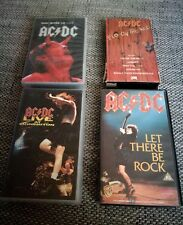 AC DC - 4 Stück - VHS - Fly on the Wall, let there be Rock, Donington, Stiff Upp