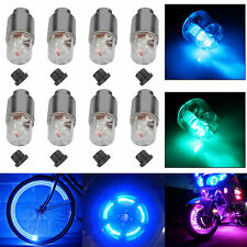 8PCS Bike Bicycle Car Motorcycle Wheel Tire Valve Cap Neon Lamp LED Flash Light